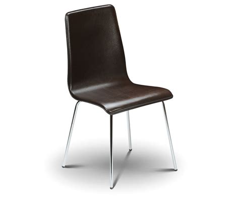 mandy brown faux leather budget dining chair