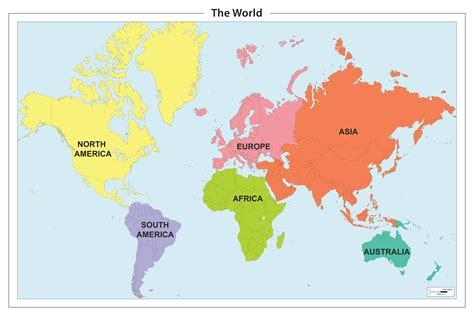 continent map  world