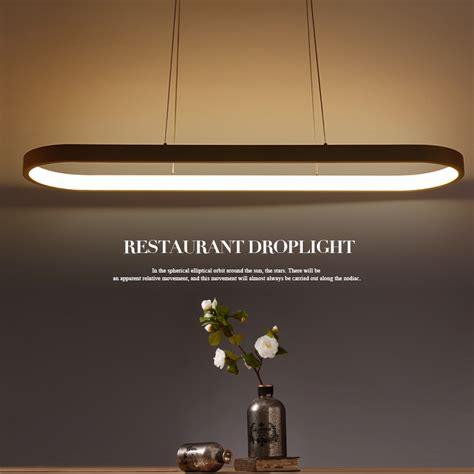 oval shape mm length modern led pendant lights