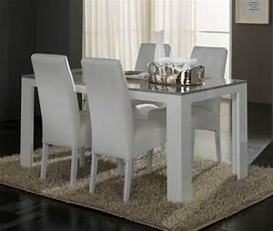 Table Grise Et Blanche : table de repas pisa laqu e bicolore blanc gris blanc gris l 160 x h 77 x p 90 ~ Teatrodelosmanantiales.com Idées de Décoration