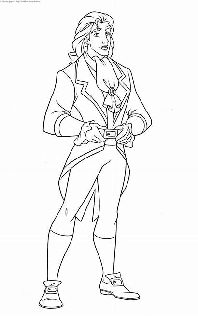Prince Coloring Pages Disney Eric Adam Characters