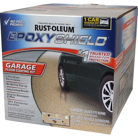 rustoleum garage floor coating kit rust oleum 251966 epoxyshield garage floor coating