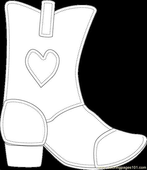 cartoon cowgirl boots colouring pages page