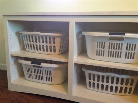 Laundry Basket Storage!