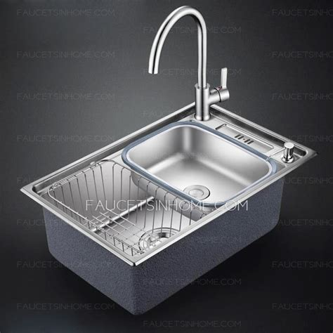 non stainless steel kitchen sinks nickel brushed single bowl stainless steel with faucet 7120