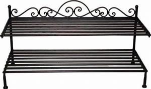 Schuhregal Aus Metall : schuhregal aus eisen schmiedeeisen mit schn rkel und verzierungen ~ Whattoseeinmadrid.com Haus und Dekorationen