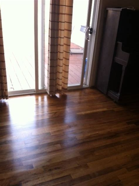 stain  hardwood floor   steps dengarden