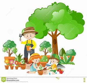 Kids Planting Trees Clip Art