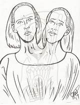 Ahs Coloring Bette Dot Freakshow Adult Horror Drawings Furies Colouring Sketch sketch template