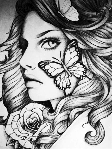 art, black and white, and girl image in 2019   Adult coloring book pages, Blank coloring pages
