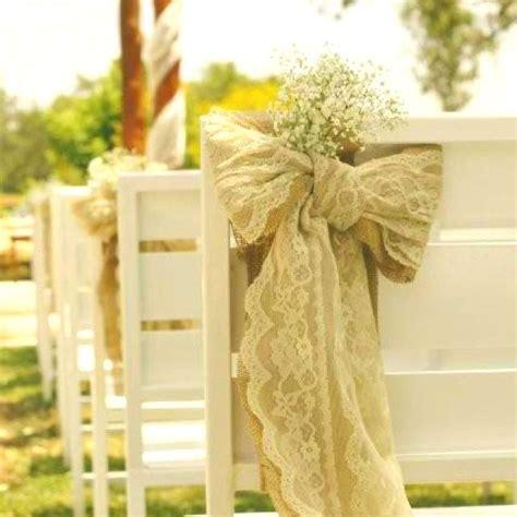 Baby's breath Burlap lace wedding Wedding chair