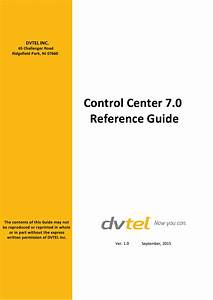 Control Center 7 0 Quick Reference Guide