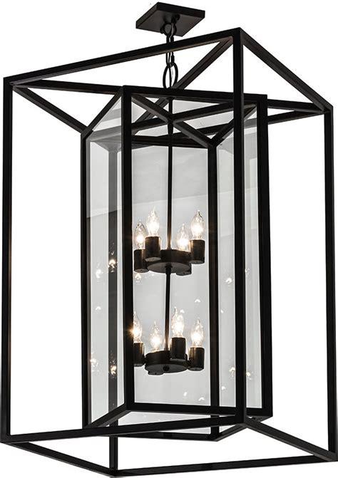 meyda 174264 kitzi box modern blackwash foyer