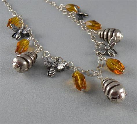 busy beehive bee beekeeper  honey necklace  earring