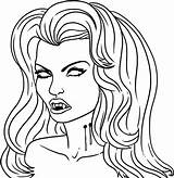 Vampire Coloring Pages Printable sketch template