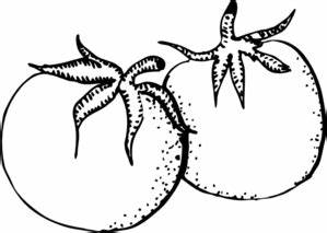 Tomatoes Black And White Clip Art at Clker.com - vector ...