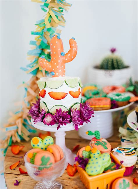 Vibrant Coral & Green Fiesta Birthday Party  Inspired By This