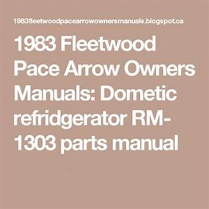 1983 Fleetwood Pace Arrow Owners Manuals  Dometic