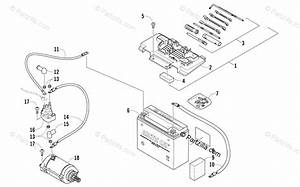 Arctic Cat Atv 2014 Oem Parts Diagram For Battery And