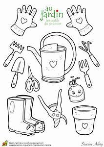 Jardin Dessin Couleur : coloriage les outils de jardinage ~ Melissatoandfro.com Idées de Décoration
