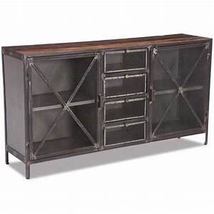 sie a5401 vintage industrial sideboard by shivam With best brand of paint for kitchen cabinets with metal candle holders bulk