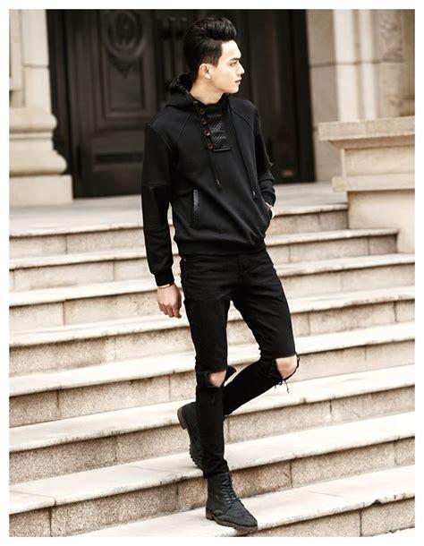 Image result for men black hoodie outfit | REV | Pinterest