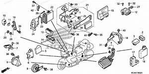 Honda Motorcycle 2008 Oem Parts Diagram For Control Unit  Gl1800 U0026 39 06