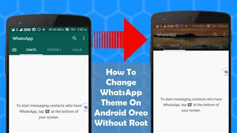 how to change whatsapp theme android oreo without root