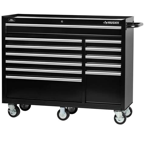 husky tool storage cabinets husky 52 in 12 drawer tool cabinet hmt5212 the home depot