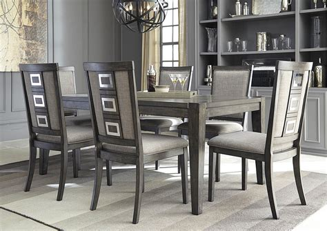 dining table with grey chairs furniture more galleries chadoni gray rectangular dining