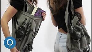 Faire Un Sac : diy faire un sac avec un vieux t shirt youtube ~ Nature-et-papiers.com Idées de Décoration