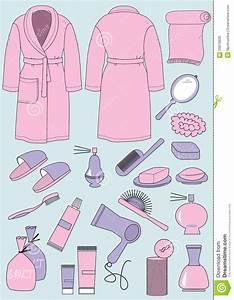 Objet Salle De Bain : peignoir et objets pour la salle de bains images libres de droits image 29978939 ~ Melissatoandfro.com Idées de Décoration