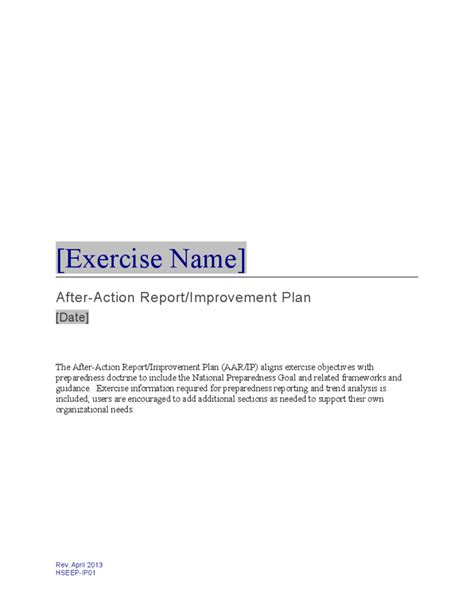 action report plan template