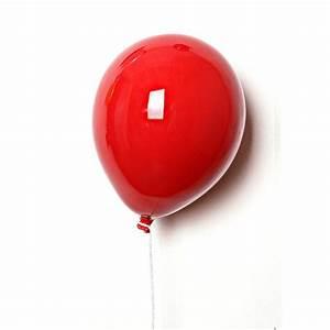 Palloncino decorativo in ceramica The Balloons si fissa a muro ed e orientabile 18x24cm colore