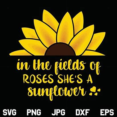 Sunflower Svg She Rose Fields Designking Artfire