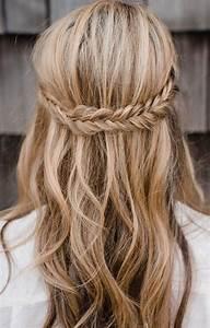 Half up half down braid hairstyles