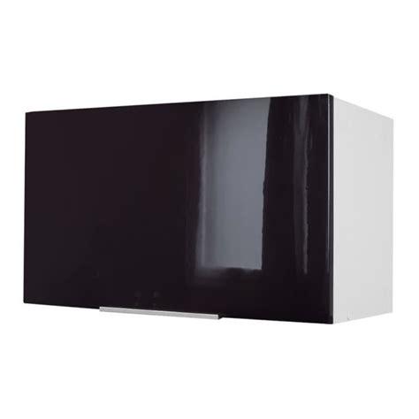 elements de cuisine pas cher pop meuble hotte 60 cm noir haute brillance achat