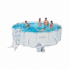 Filtre A Sable Bestway : bestway piscine tubulaire ronde 4 88 x 1 22 m avec ~ Voncanada.com Idées de Décoration