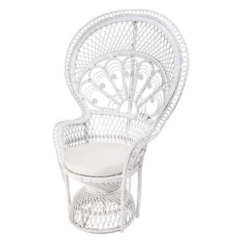 chaise rotin maison du monde fauteuil en rotin blanc philippine maisons du monde