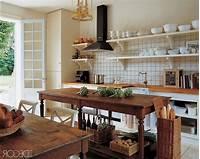 vintage kitchen island 28 Vintage Wooden Kitchen Island Designs | DigsDigs