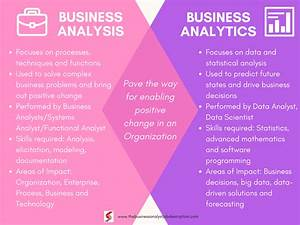 Business Analysis Vs Business Analytics