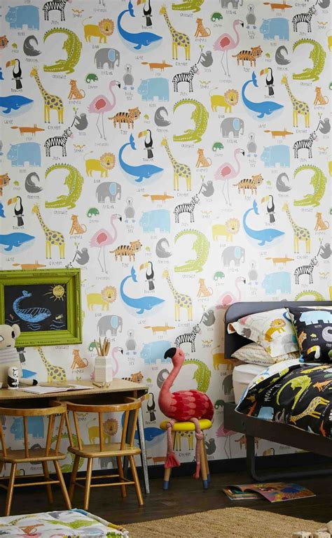 Animal Magic Wallpaper - animal magic by scion multi on white wallpaper direct