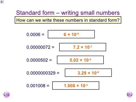 number full form fishlock lesson one standard form