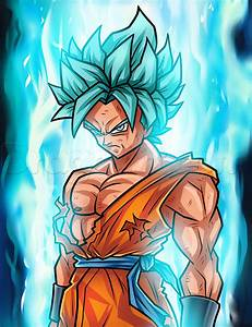 Drawing Super Saiyan Blue Goku Step by Step, Step by Step ...