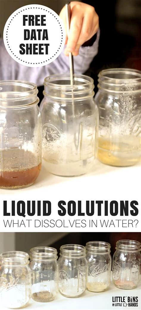 dissolves  water experiment  kids  bins