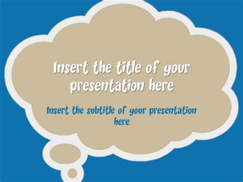 thought bubble powerpoint template speech bubbles free template for powerpoint and impress