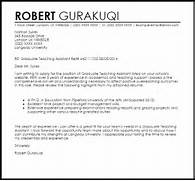 Graduate Teaching Assistant Cover Letter Sample LiveCareer Sample Teaching Cover Letter 8 Examples In Word PDF Cover Letter Teachers Aide Teaching Assistant Cover Letter