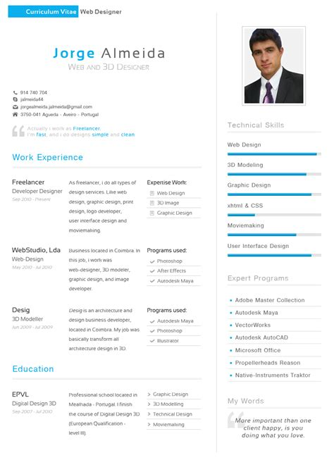 Do And Don Ts Curriculum Vitae by Curriculum Vitae Jorge Almeida By Thedpstudio On Deviantart
