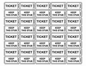 free printable raffle ticket templates blank With numbered event ticket template free