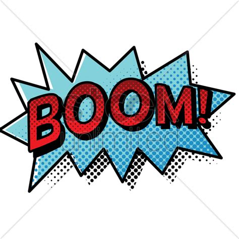 Boom Text With Comic Effect Vector Image